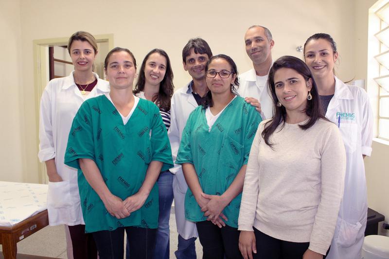 Na imagem, estão os 8 profissionais que integram a equipe da UCCI.